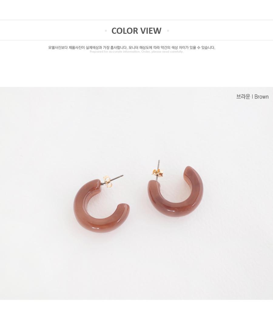 Fully-filled earrings