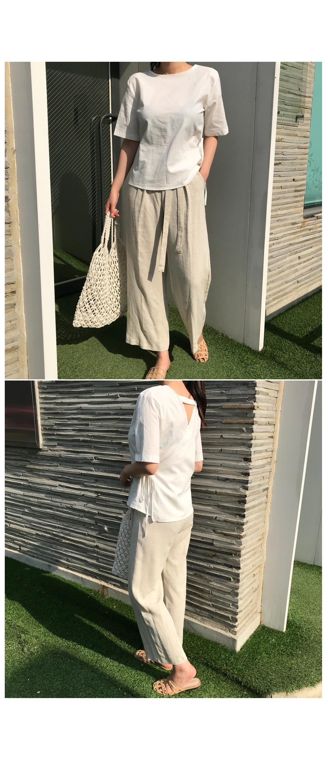Bali Ribbon Wrap Blouse