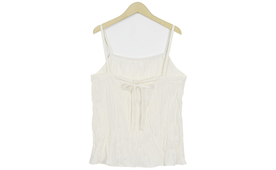 Crumple ribbon sleeveless top_K (size : free)