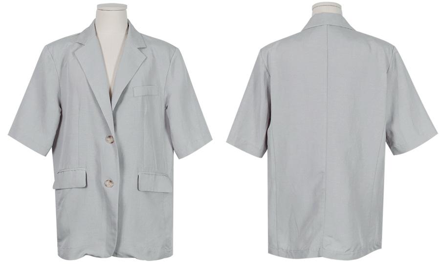 Amy linen boxy jacket_K (size : free)