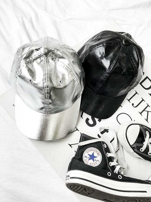 Fake Leather Ball Cap