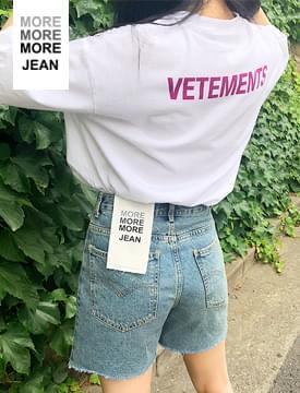 MORE JEAN_vintage shorts(blue) (size : S,M,L)
