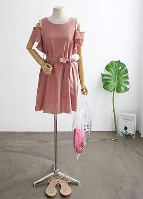 Ribbon Off Shoulder Dress