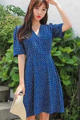 Blue dot dress