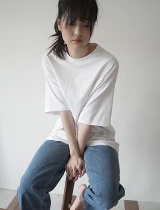 oversize cutting edge T-shirt (4colors)
