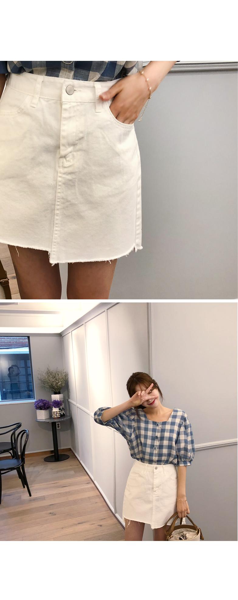 Daily denim skirt