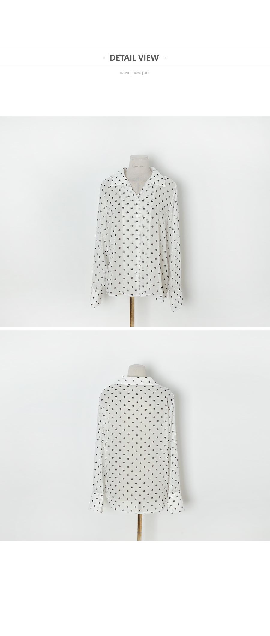 Dot polka-dot blouse