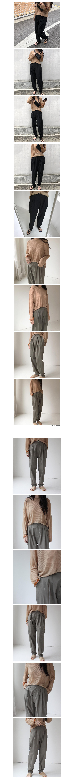 Cotton jogger pants (3color)