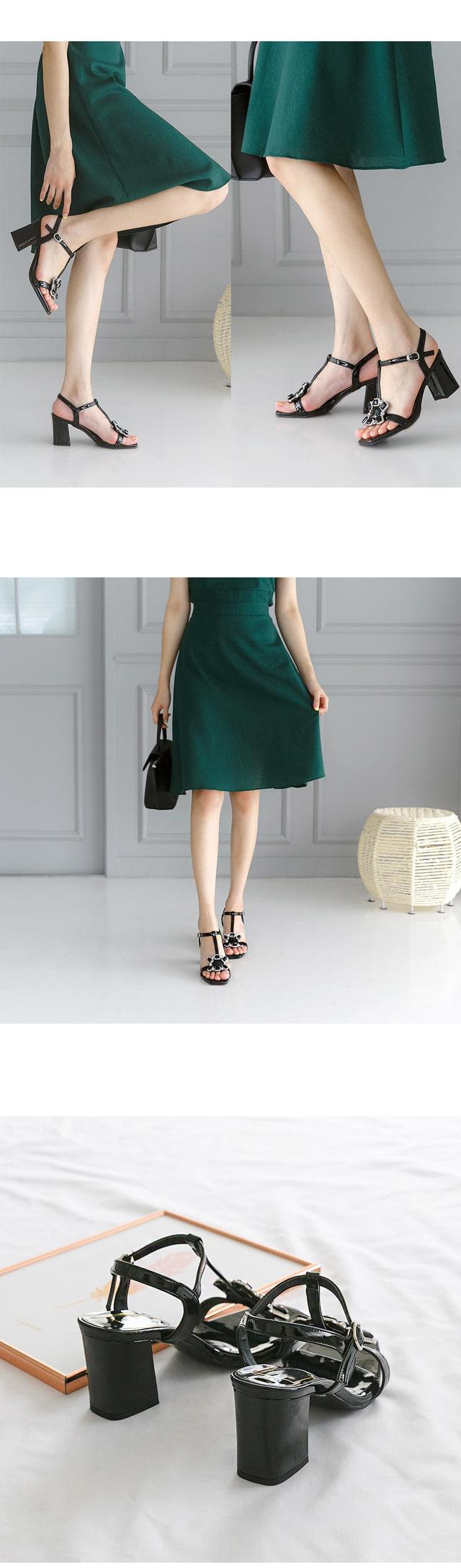 Gallon strap sandals 7cm