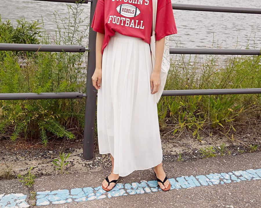 Wind shiffon flare skirt_K (size : free)