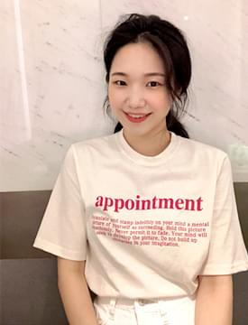 Appointment lettering T_H (size : free)