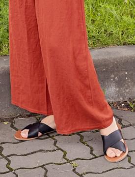 Soft skin x-strap sandal_H (size : 230,235,240,245)