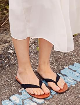 Cotton strap flip-flop_B (size : 225,230,235,240,245,250)