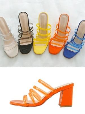 Plump PVC sandals and mules 7cm