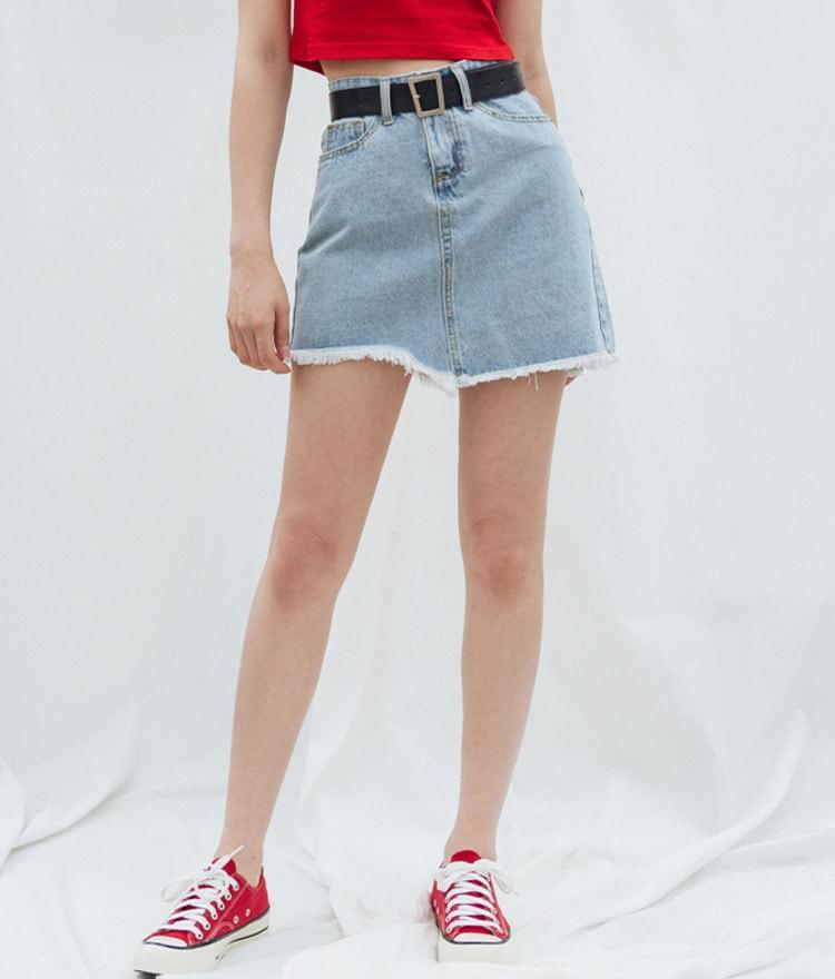 Unbalanced Surgical Denim Skirt