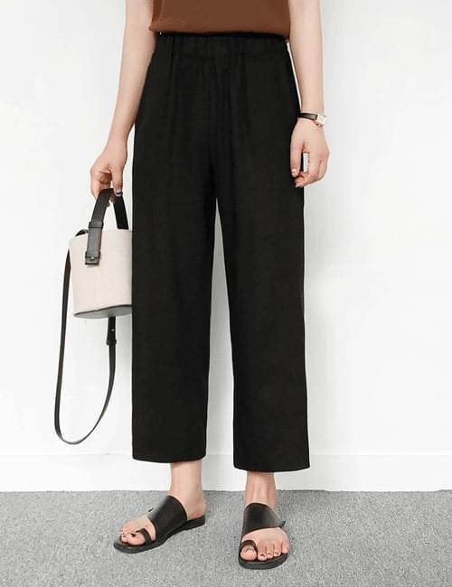 Linen banding date pants