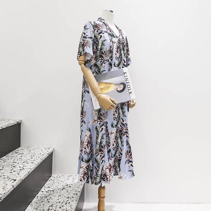 Mermaid long dress Touruffitto incision _swop02522