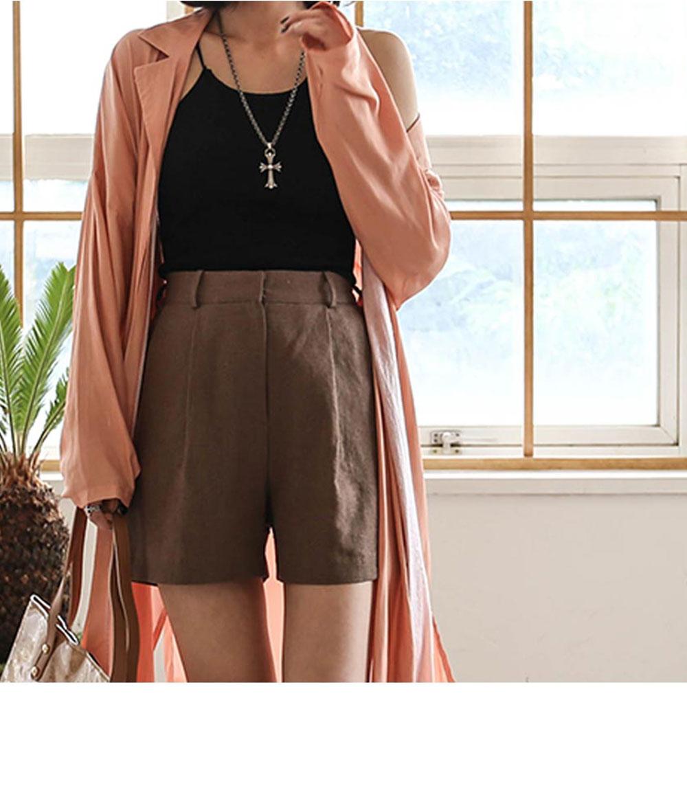 Natural linen pants _pt02471