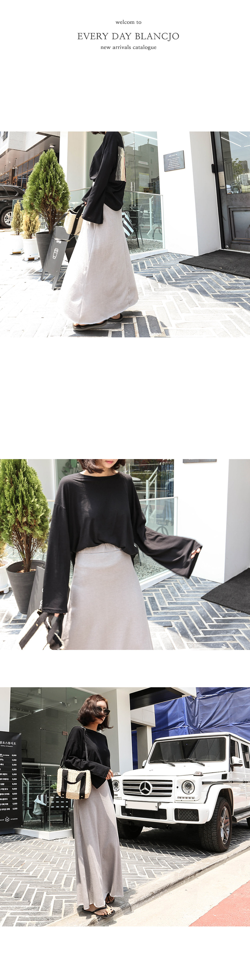 Banding flare long skirt _sk02507