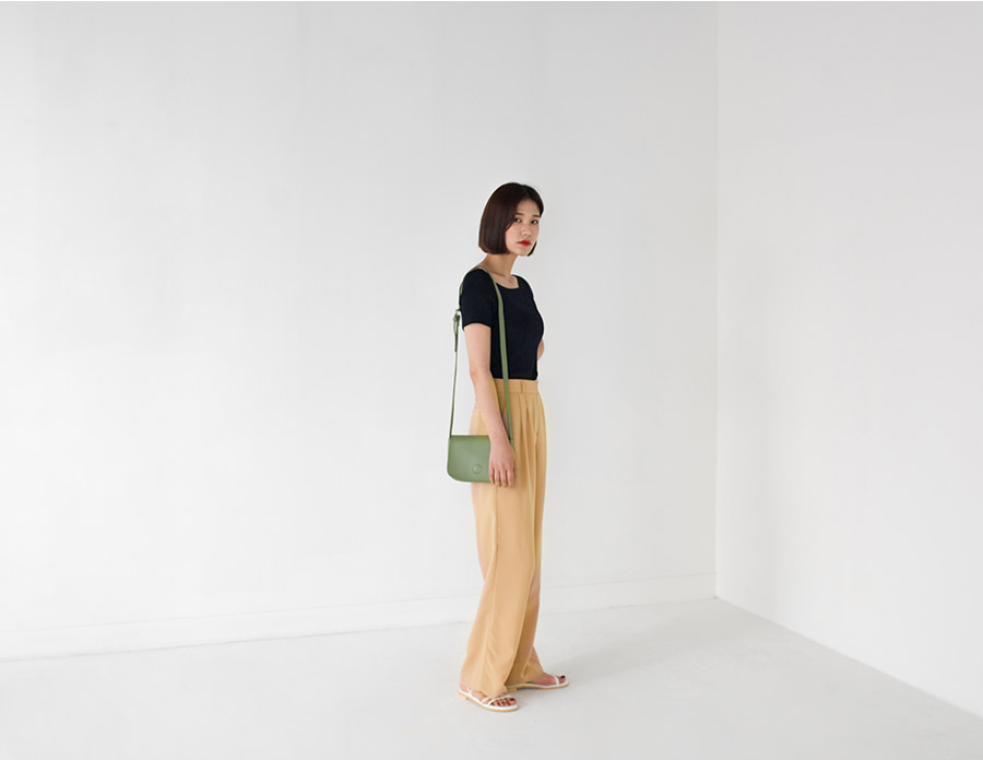 colorful pintuck maxi slacks