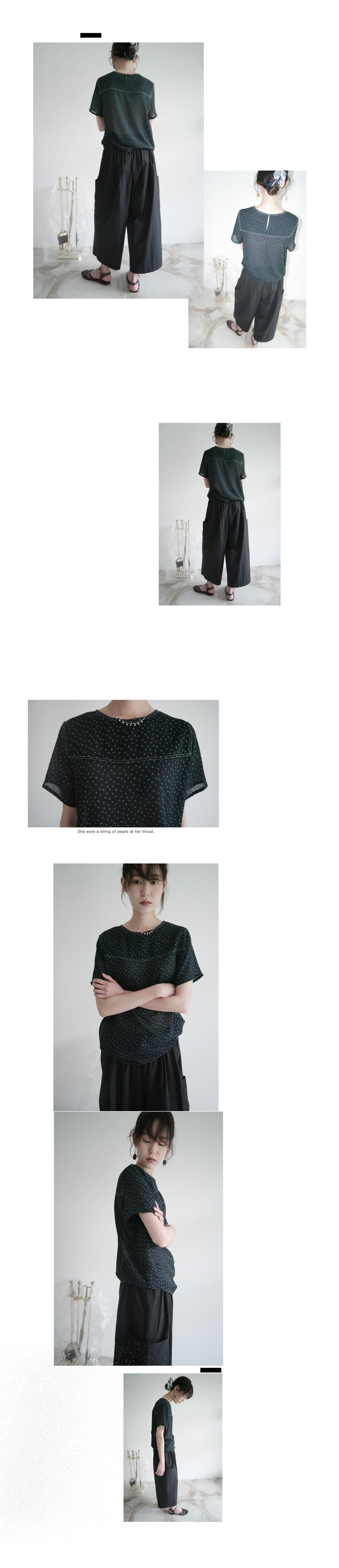 spot print blouse (2colors)