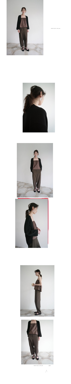 curve side line slacks (3colors)
