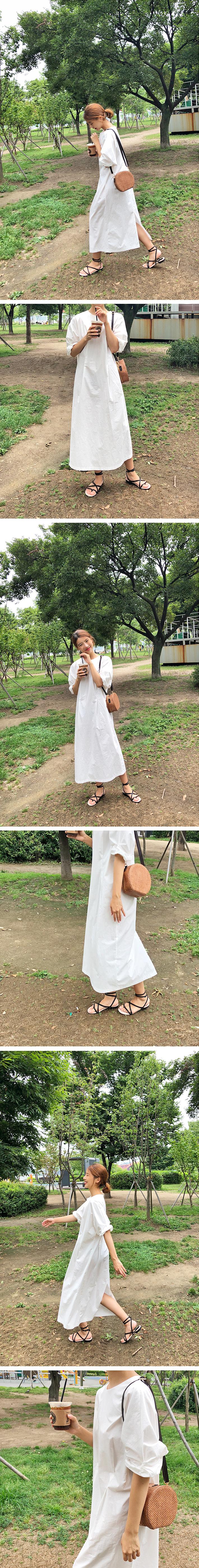 Plain cotton long ops_K (size : free)