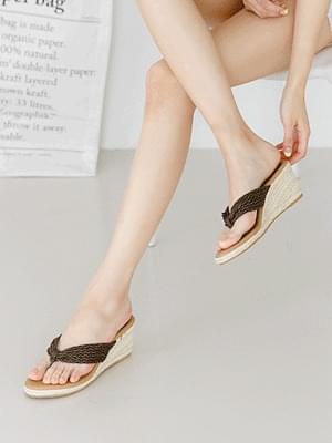 Chilien Wedge Hill Mule Slippers 6.5cm