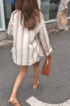 Biilybrown-striped shirt