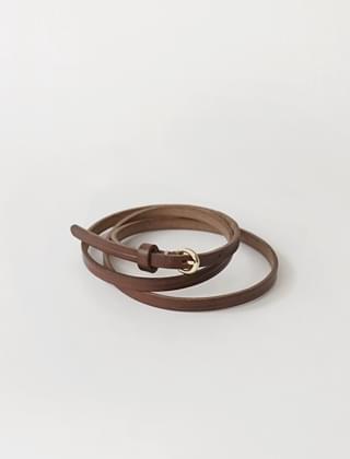 slender leather belt (2colors)