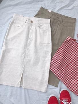 Roying midi skirt