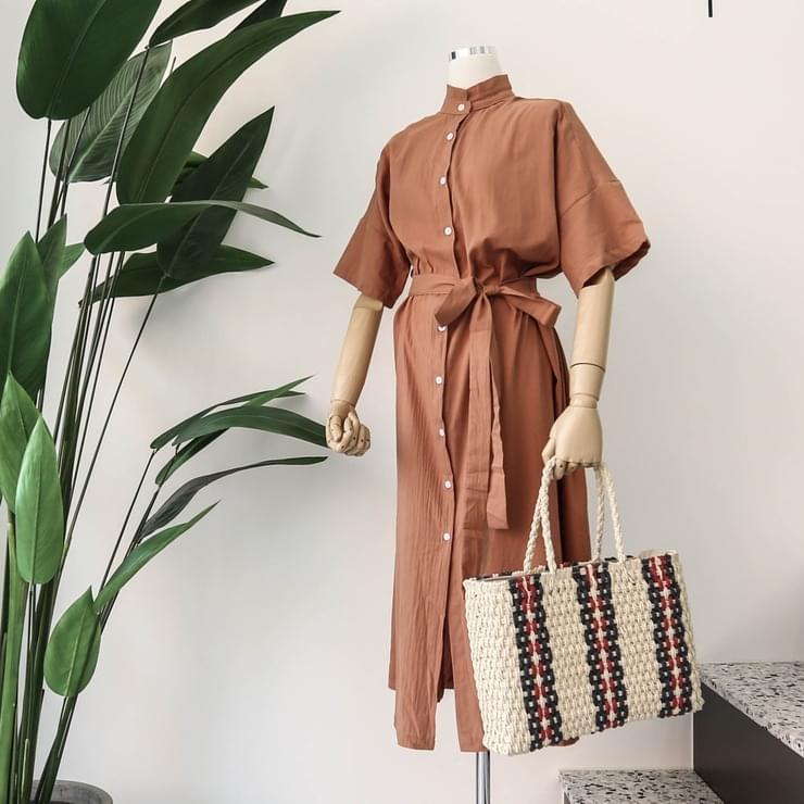 Shirt Open Long Dress Robe _opsw02488