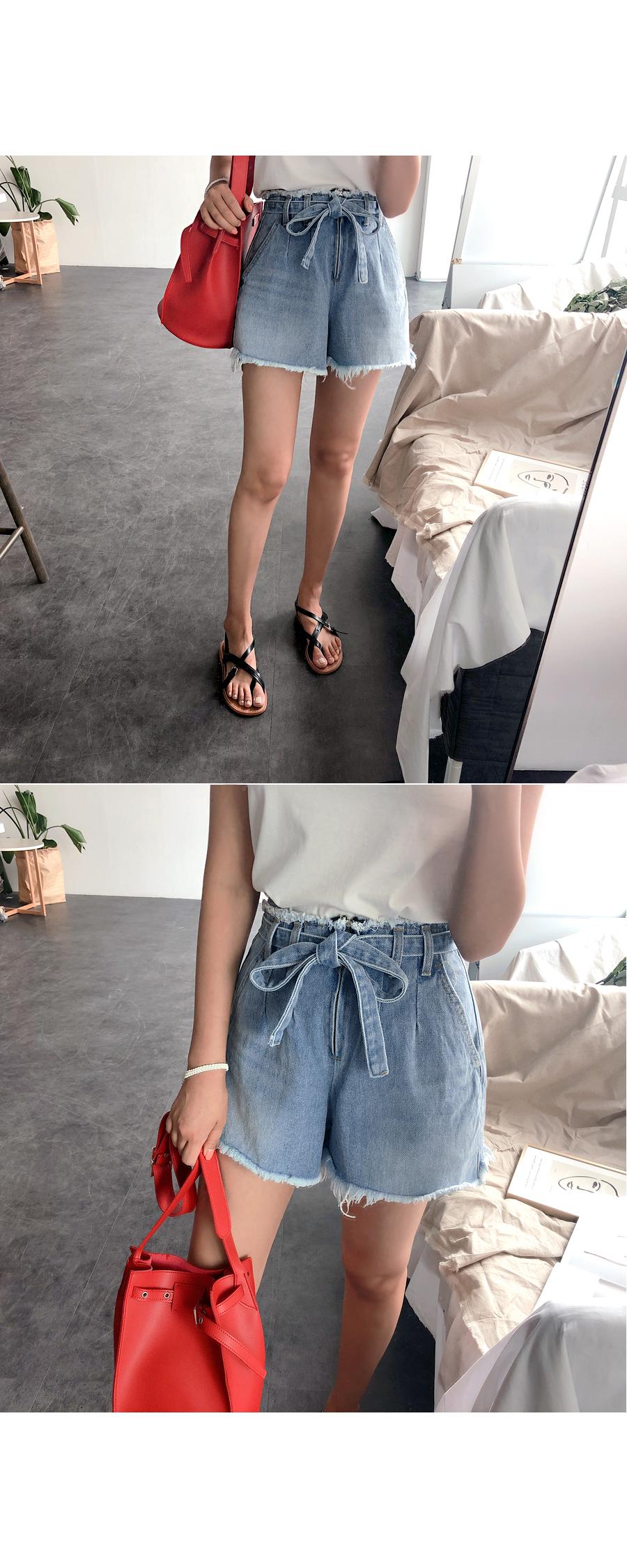 Belt short pants