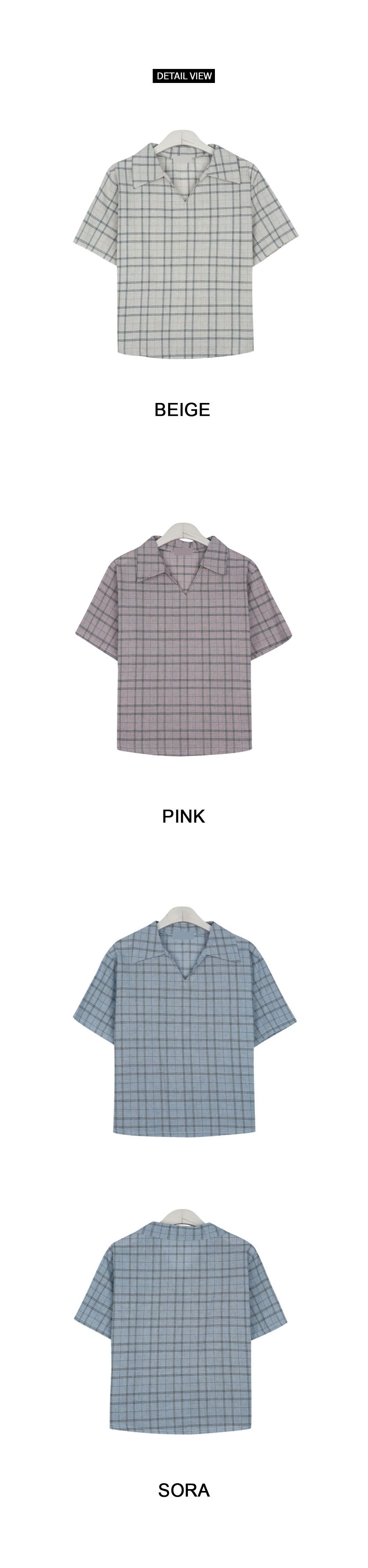 Vikara check blouse