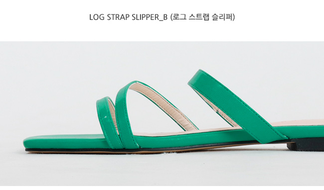 Log strap slipper_B (size : 230,235,240,245,250)