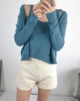 Basic high waist cotton shorts 2color