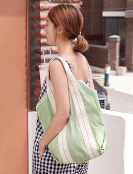 Hard cotton Two-way bag_H (size : one)