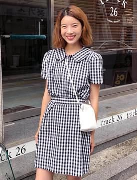 Vogue check skirt_S (size : free)