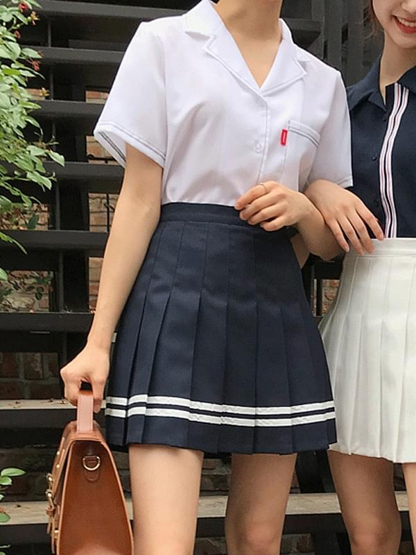 Marine tennis skirt