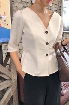 Victoria-linen blouse