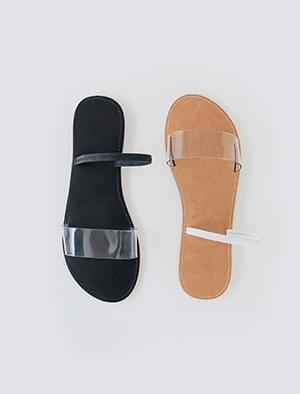 aqua clear strap slipper