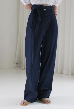 High waist strap pants (2color)
