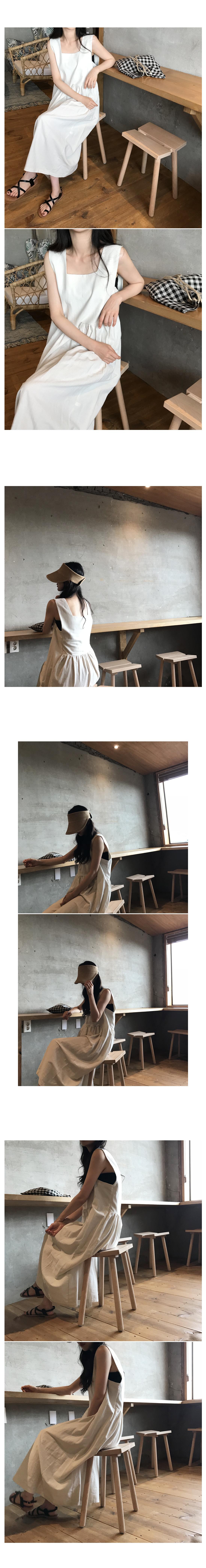 Wind linen nashi long dress