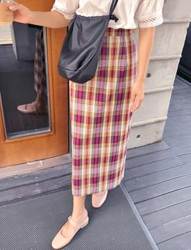 Layer pattern long skirt_S (size : free)