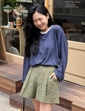 Moly linen banding shorts_H (size : free)