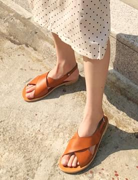 Soft leather x-cover sandal_H (size : 230,235,240,245,250)