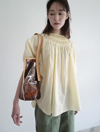 pleat point blouse (3colors)