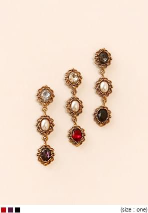 BRIGHT CRYSTAL DROP EARRING