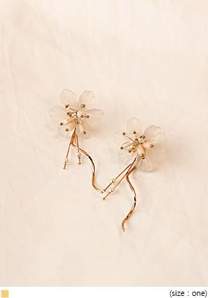 GOLD BLOSSOM DROP EARRING