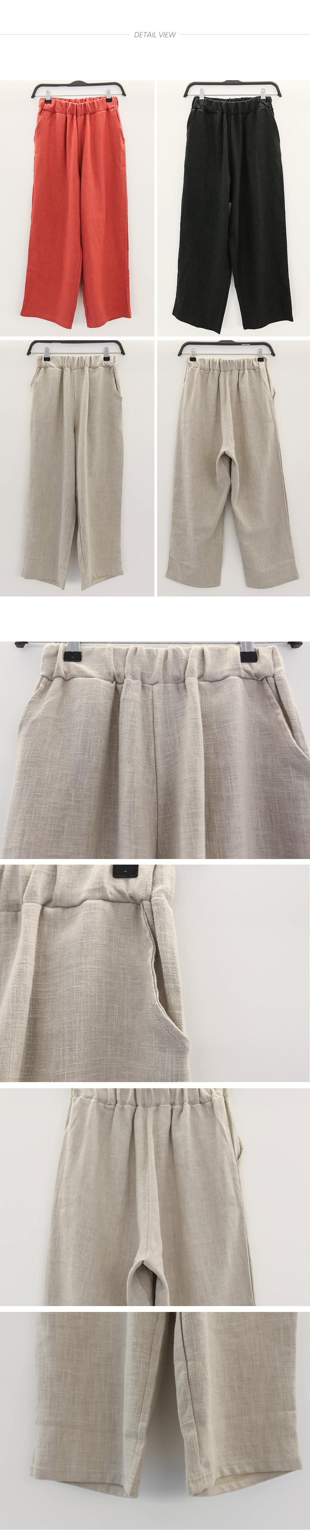 Linen Basic Daily Bending Pants _pt02566